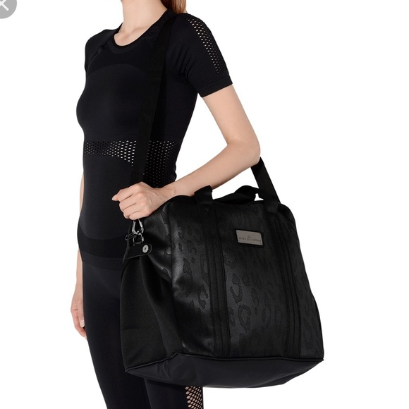 Stella McCartney X Adidas bag in black leopard
